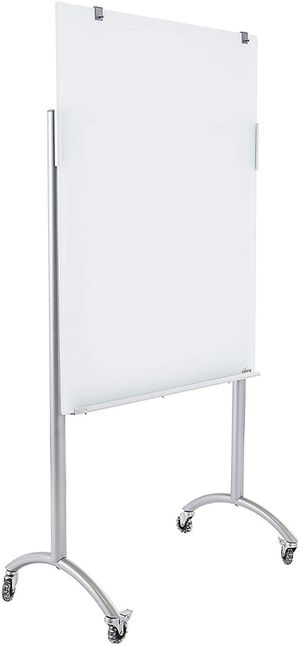 "White board Glass Easel with Padchart Hooks, 36"" x 48"" x 74"", Silver Brand new just assembled for Sale in Citrus Heights, CA"
