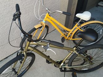 """** HIS & HER - Huffy 27.5"""" 7-speed comfort bikes ($160/$140) with Perfect Fit frame - Good Condition** for Sale in Pearland,  TX"""