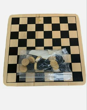 Cardinal Games Wood Checkers & Tic Tac Toe Game Board for Sale in Wood Dale, IL
