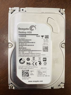 1 TB ( 1000 GB ) Internal Hard Disk Drive HDD for Desktop Computer, PlayStation or XBox for Sale in Fort Lauderdale, FL