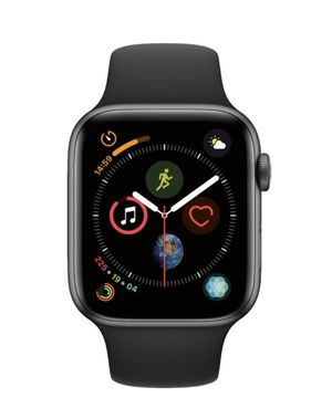 Apple - Apple Watch Series 4 (GPS + Cellular) 44mm Space Gray Aluminum Case with Black Sport Band - Space Gray Aluminum for Sale in Chesapeake, VA