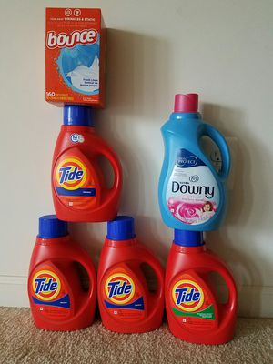 Tide Downy and Bounce- $30 price firm for Sale in Potomac, MD