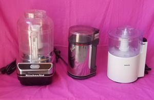 Kitchen Aid Vegetable Chopper, Krups Chopper, Moulinex Coffee Bean Grinder for Sale in San Dimas, CA