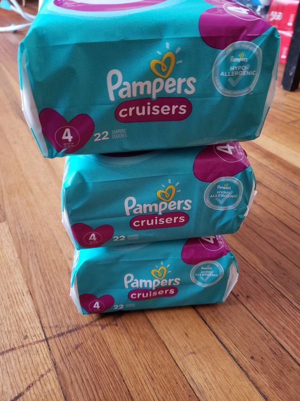 3 PACKAGES DIAPERS PAMPERS CRUISERS SIZE 4