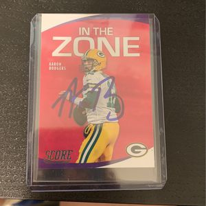 Aaron Rodgers hand signed card packers for Sale in Falls Church, VA