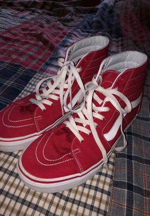 Red Old School high top Vans for Sale in Imperial, CA