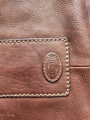 Fossil brown leather weekend/ travel bag for Sale in Washington, DC