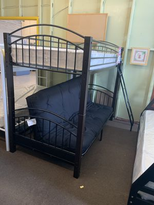 Twin /futon bunk bed with mattress and futon pad included everything new. for Sale in Las Vegas, NV