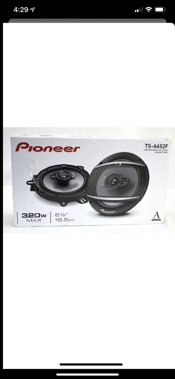 """New New Pioneer TS-A652F 6-1/2"""" 3 Way Coaxial Speaker System 320 PEAK 70 WATT"""