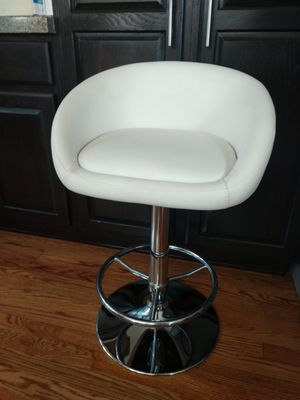 "White Swivel Height Adjustable Contemporary Stool 23"" Low to 32"" High. 2 Available for Sale in Arvada, CO"