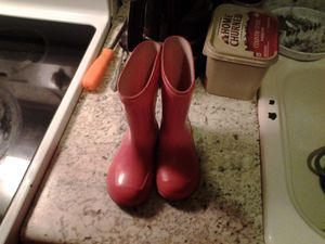 Toddler girls rain boots for Sale in Tennerton, WV