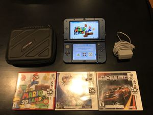 Nintendo 3DS XL Launch Edition (Galaxy Style) Charger, *comes with 3 games and case !!! for Sale in Silverdale, WA