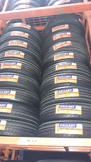 St225 75 r15 10ply trailer tires 4 new $240 for Sale in Los Angeles, CA