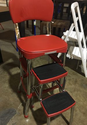 Antique retro style chair with foot rest for Sale in Dallas, TX