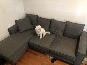 Small sectional grey couch for Sale in New York, NY