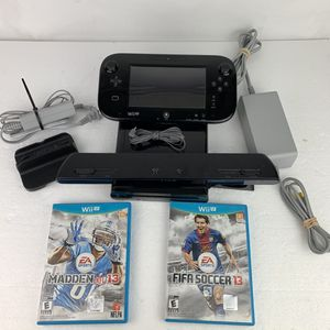Nintendo Wii U Deluxe 32 GB Black System Lot w/ 2 Games Console Bundle for Sale in FL, US