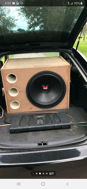 """18"""" subwoofer box for Sale in Plant City, FL"""