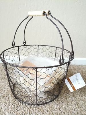 Fall Metal Wired Gift Basket DIY Kit for Sale in Sunnyvale, CA