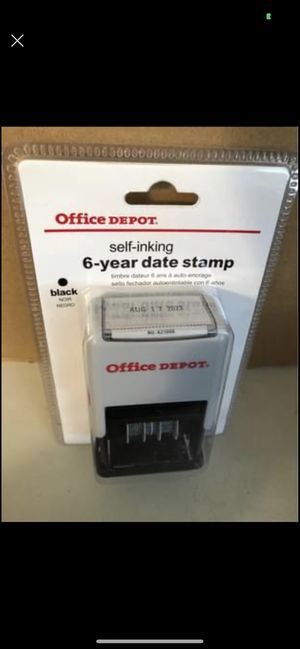 NEW Self inking 6 year date stamp for Sale in Harrisburg, PA