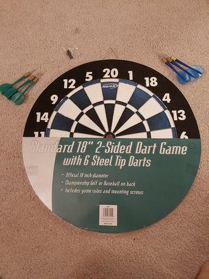 "NEW 18"" 2 sided Dart board game set for Sale in Alpharetta, GA"