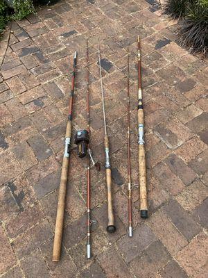 $5/$10 - salmon fishing poles & Daiwa reel for Sale in Oregon City, OR