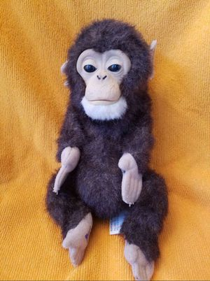 FurReal Friends baby newborn interactive monkey chimpanzee ape pet for Sale in Joliet, IL