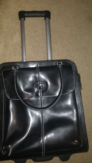 Wilson leather rolling suitcase for Sale in Essex, MD