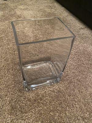 Glass rectangle vase, set of 7 for Sale in Draper, UT
