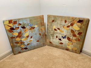 Butterfly Canvas Prints (Set of 2) for Sale in Alexandria, VA