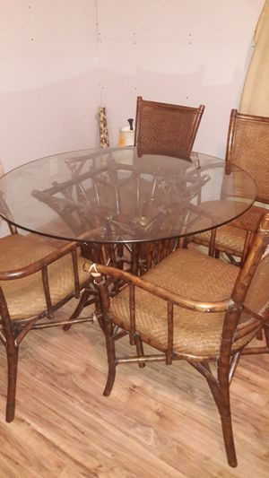 Rattan table set for Sale in Avon Park, FL