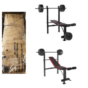 CAP Strength Standard Combo Bench with 100 lb Weight Set for Sale in Sugar Land, TX
