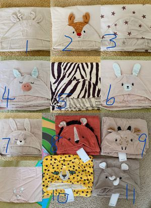 Kids large cotton hooded bath towels for Sale in Melbourne Village, FL
