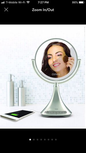 Double-Sided Vanity Mirror W/ Bluetooth for Sale in Concord, NC