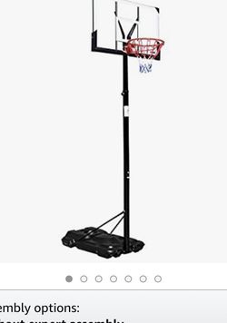 "PEXMOR Basketball Hoop Height Adjustable 8 FT-10FT with 44"" Standard Backboard for Sale in Los Angeles,  CA"