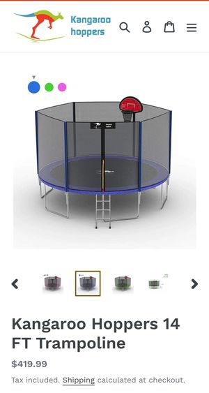 14ft Trampoline NEW in BOX w/ basketball rim & latter!! for Sale in Moreno Valley, CA