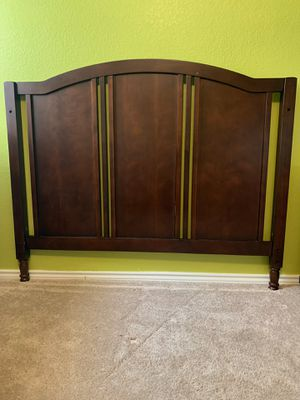 Full headboard and metal bed frame for Sale in Pflugerville, TX