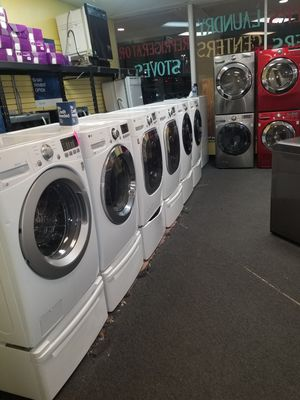 LG electric front load set washer and dryer in excellen condition for Sale in Baltimore, MD