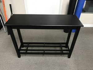 Black wood console table for Sale in Los Angeles, CA
