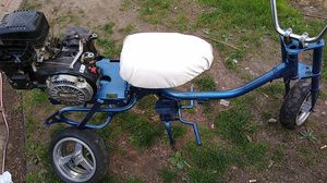 Spree with a Honda 50 dirt bike rear end. Has a 4hp Robin motor with a Max torque clutch, comes with everything in the pic. 180 o.b.o for Sale in Southfield, MI