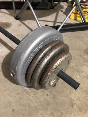 Weight set barbell and weights for Sale in Houston, TX