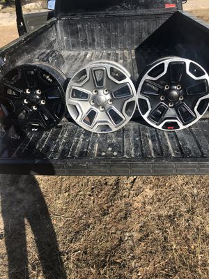 """Jeep rubicon 17"""" wheels for Sale in Austin, TX"""