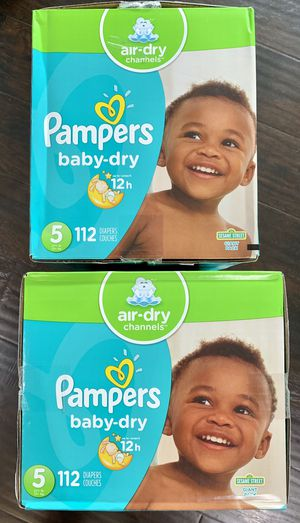 Pampers baby dry size 5 $27 per box for Sale in Long Beach, CA