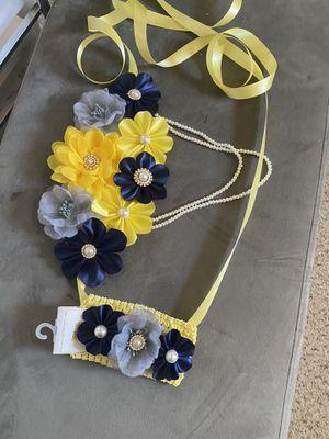 Maternity sash + newborn headband for Sale in El Paso, TX