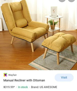 Manuel recliner with ottoman new for Sale in Pumpkin Center, CA