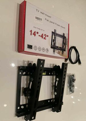 """NEW universal 14 to 42 inch tilt adjustable tilting tv wall mount television bracket stand with HDMI wire and screws 32"""" 37"""" 40"""" 42"""" for Sale in Whittier, CA"""
