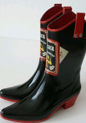 NOMAD Yippy Lady Luck Rain Mud Cowboy Western Boots Black Red Size 9 NWOT for Sale in West Seneca, NY