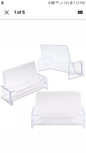 10 pcs per box Clear Acrylic Compartment Desktop Business Card Holder Display Stand for Sale in Surprise, AZ