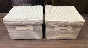 The Container Store Storage Baskets with Lids 7 total for Sale in Niles, IL