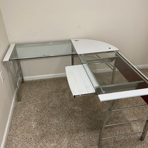 L Shape Office Glass Desk for Sale in Clinton Township, MI