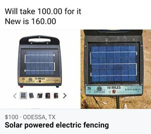 Solar powered electice fence for Sale in Odessa, TX